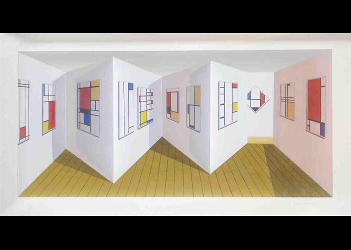 Patrick Hughes - Mondrians