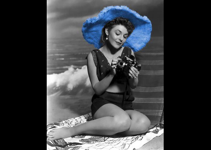 Mr(s). ConStance - Anne Bancroft has a blue hat