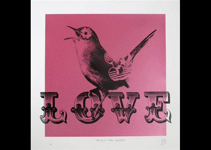 Ben Allen - Metallic Pink Lovebird