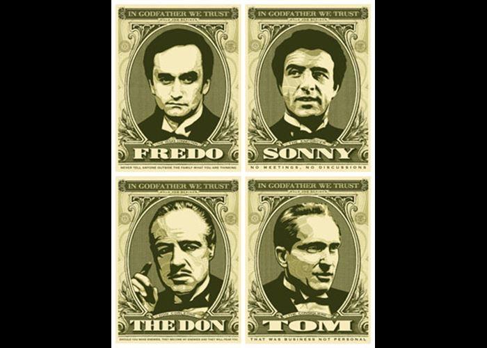 Shepard Fairey - The Godfather Series (4 Prints)