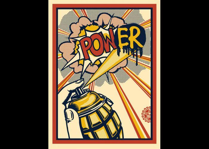 Shepard Fairey - Power (Lichtenstein)