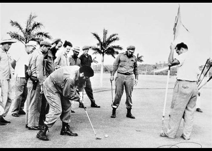 Alberto Korda - Che Guevara and Fidel Castro Playing Golf