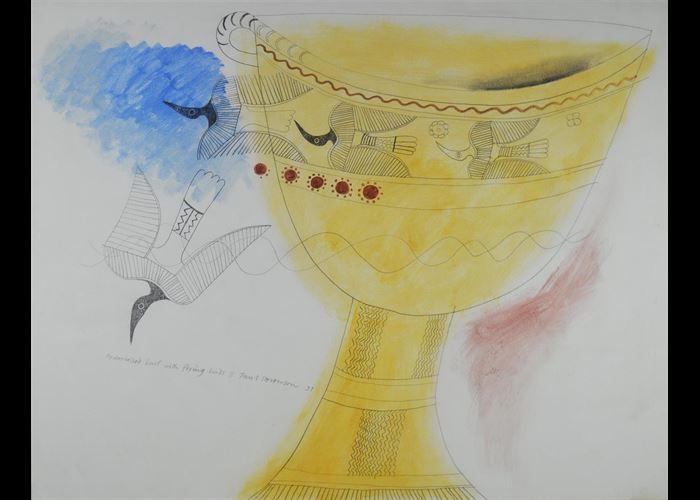 Paul Stevenson - Pedestalled bowl with flying birds II