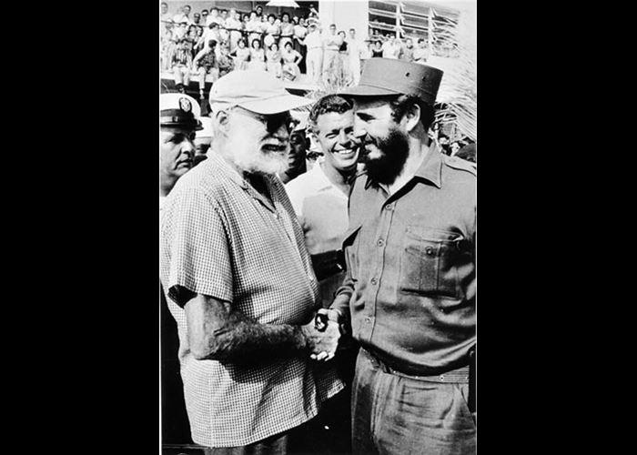 Alberto Korda - Fidel Castro Greeting Ernest Hemingway Havana